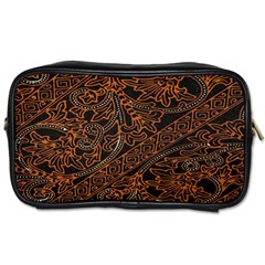 Art Traditional Indonesian Batik Pattern Toiletries Bags