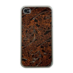 Art Traditional Indonesian Batik Pattern Apple iPhone 4 Case (Clear)