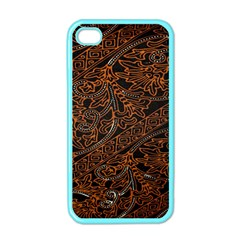 Art Traditional Indonesian Batik Pattern Apple Iphone 4 Case (color)