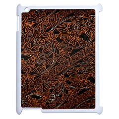 Art Traditional Indonesian Batik Pattern Apple iPad 2 Case (White)