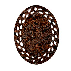 Art Traditional Indonesian Batik Pattern Ornament (oval Filigree)