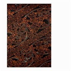 Art Traditional Indonesian Batik Pattern Small Garden Flag (two Sides)