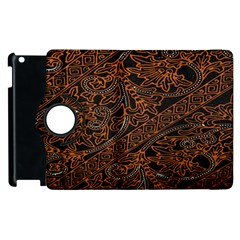 Art Traditional Indonesian Batik Pattern Apple Ipad 2 Flip 360 Case