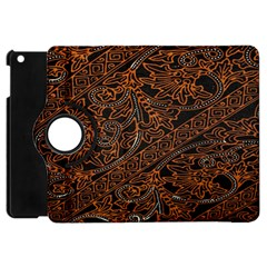 Art Traditional Indonesian Batik Pattern Apple Ipad Mini Flip 360 Case
