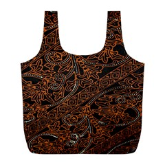 Art Traditional Indonesian Batik Pattern Full Print Recycle Bags (L)