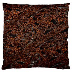 Art Traditional Indonesian Batik Pattern Large Flano Cushion Case (one Side)