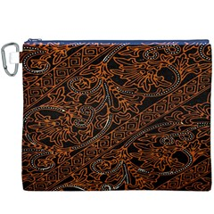 Art Traditional Indonesian Batik Pattern Canvas Cosmetic Bag (XXXL)