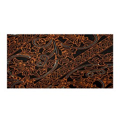 Art Traditional Indonesian Batik Pattern Satin Wrap
