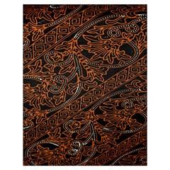 Art Traditional Indonesian Batik Pattern Drawstring Bag (large)