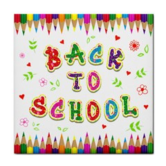 Back To School Tile Coasters
