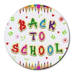Back To School Round Mousepads