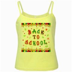 Back To School Yellow Spaghetti Tank