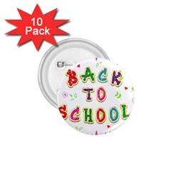 Back To School 1 75  Buttons (10 Pack)