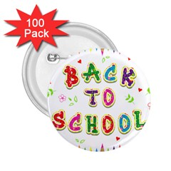 Back To School 2 25  Buttons (100 Pack)