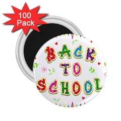 Back To School 2 25  Magnets (100 Pack)
