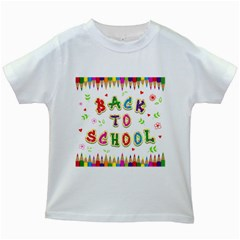Back To School Kids White T-Shirts