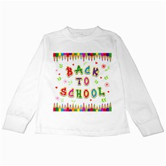 Back To School Kids Long Sleeve T-Shirts