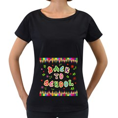 Back To School Women s Loose Fit T Shirt (black)