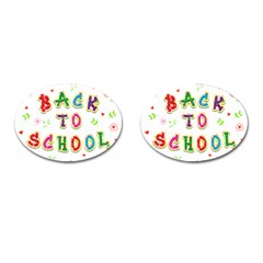 Back To School Cufflinks (oval)