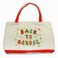 Back To School Classic Tote Bag (red)