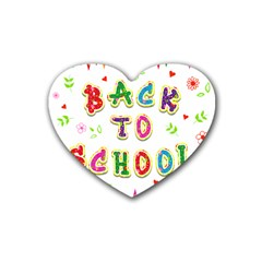 Back To School Heart Coaster (4 Pack)