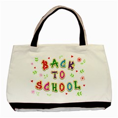 Back To School Basic Tote Bag (two Sides)