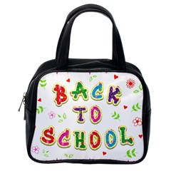 Back To School Classic Handbags (one Side)