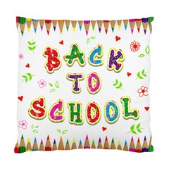 Back To School Standard Cushion Case (two Sides)