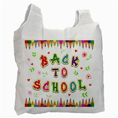 Back To School Recycle Bag (one Side)