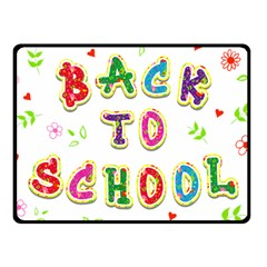 Back To School Fleece Blanket (small)