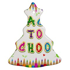 Back To School Christmas Tree Ornament (Two Sides)