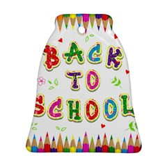 Back To School Bell Ornament (two Sides)