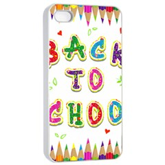 Back To School Apple iPhone 4/4s Seamless Case (White)