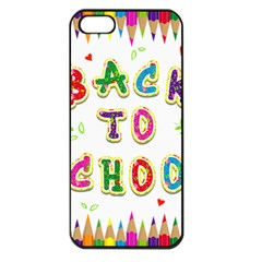 Back To School Apple Iphone 5 Seamless Case (black)