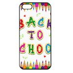 Back To School Apple iPhone 5 Seamless Case (Black) Front