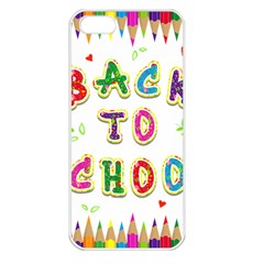 Back To School Apple Iphone 5 Seamless Case (white)