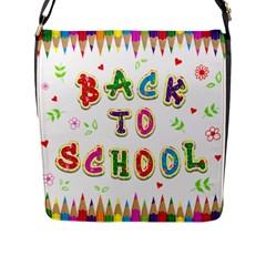 Back To School Flap Messenger Bag (l)