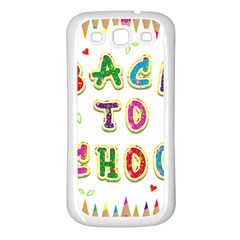 Back To School Samsung Galaxy S3 Back Case (white)
