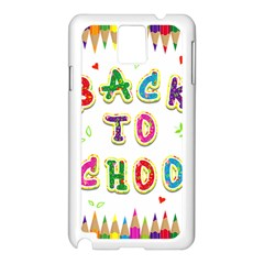 Back To School Samsung Galaxy Note 3 N9005 Case (white)