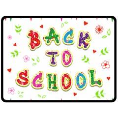 Back To School Double Sided Fleece Blanket (large)