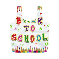 Back To School Full Print Recycle Bags (m)