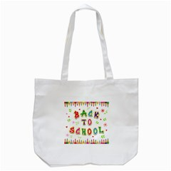 Back To School Tote Bag (white)
