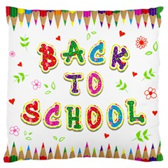 Back To School Standard Flano Cushion Case (Two Sides)