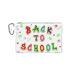 Back To School Canvas Cosmetic Bag (s)