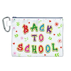 Back To School Canvas Cosmetic Bag (l)