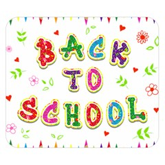 Back To School Double Sided Flano Blanket (small)
