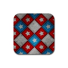 Atar Color Rubber Square Coaster (4 Pack)