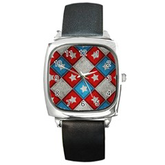 Atar Color Square Metal Watch