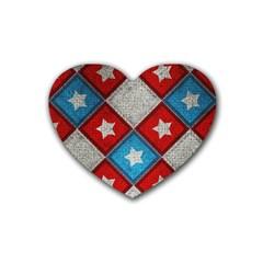 Atar Color Rubber Coaster (heart)