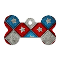 Atar Color Dog Tag Bone (two Sides)